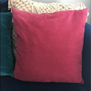 Velvet Pillow Fuchsia/Pink- Square *IKEA*